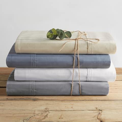 Porch & Den Marcola Dobby Stripe Organic Cotton Bed Sheet Set