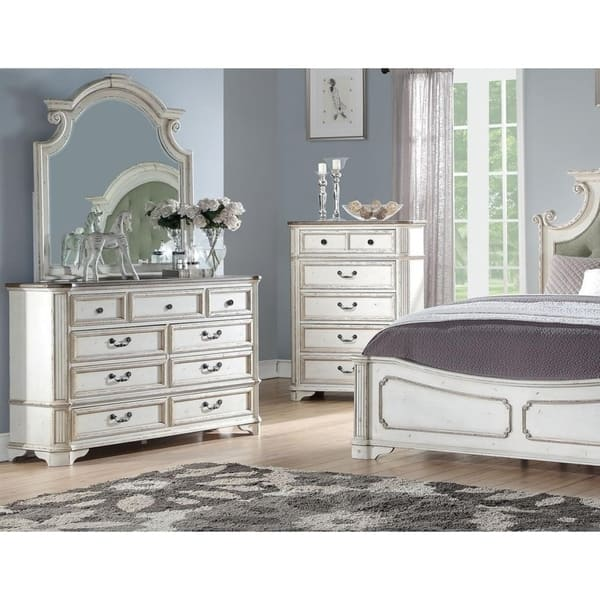 Shop Best Master Furniture Antique White 7-drawer Dresser ...