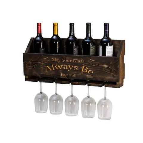 """Handmade Luxe Laser Engraved """"Always Be"""" Wine Rack"""
