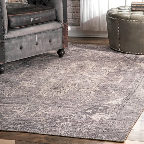Porch & Den Norfolk Flatweave Printed Tribal Medallion Area Rug