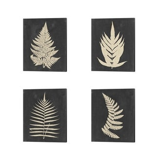 Vision Studio 'Linen Fern' Canvas Art (Set of 4)