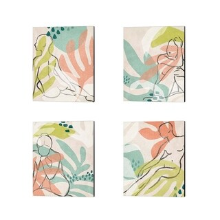 June Erica Vess 'Tropical Nude' Canvas Art (Set of 4)