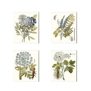 Unknown 'Lacy Leaves' Canvas Art (Set of 4)