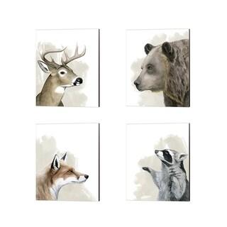Grace Popp 'Timberland Friend' Canvas Art (Set of 4)
