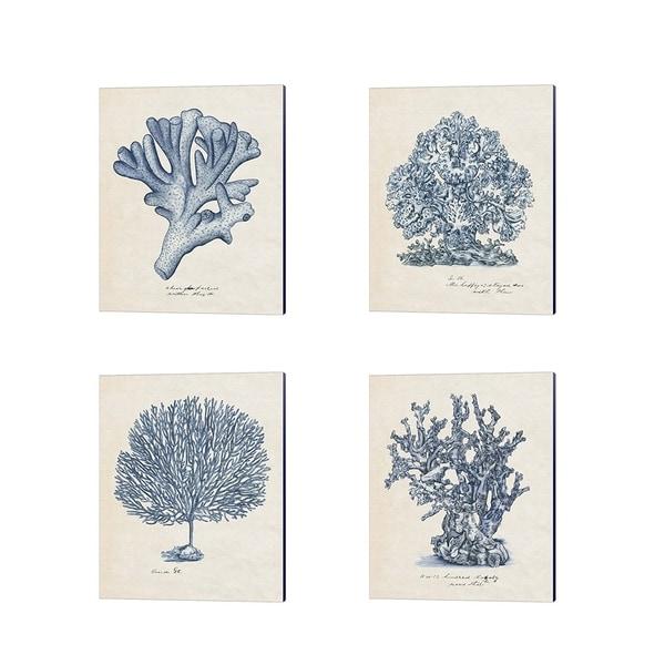 Melissa Wang 'Sea Coral Study' Canvas Art (Set of 4)