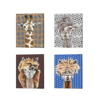 Jennifer Rutledge 'Animal Patterns' Canvas Art (Set of 4)