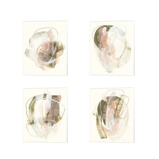 June Erica Vess 'Hyacinth Gesture' Canvas Art (Set of 4)