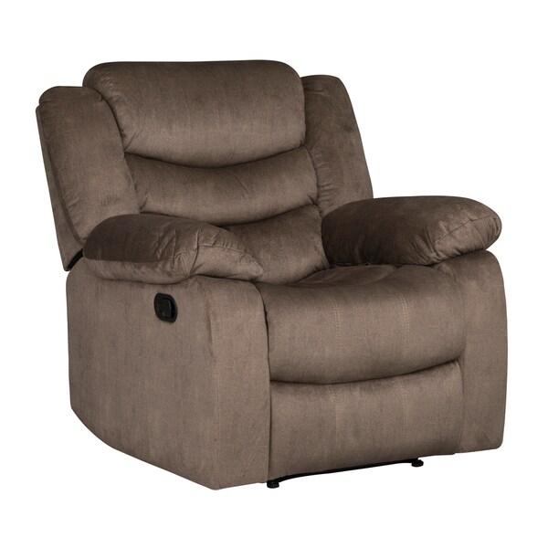 Standard Furniture Manual Motion Recliner - dark brown