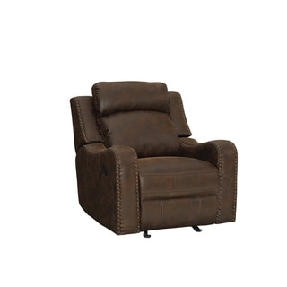 Standard Furniture Manual Motion Glider Recliner - brown