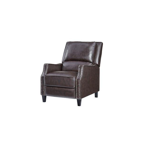 Pleasing Shop Standard Furniture Alston Push Back Recliner Brown Machost Co Dining Chair Design Ideas Machostcouk