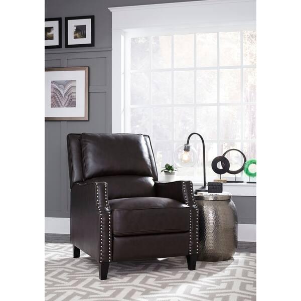Fantastic Shop Standard Furniture Alston Push Back Recliner Brown Machost Co Dining Chair Design Ideas Machostcouk