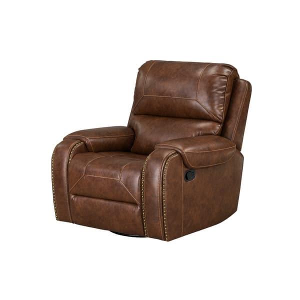Standard Furniture Winslow Manual Motion Swivel Glider Recliner Brown Overstock 26970484
