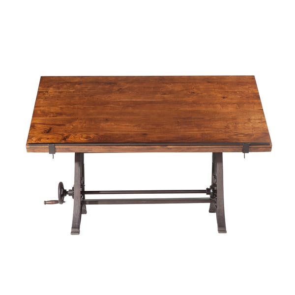 Enjoyable Shop Artezia 62 Inch Reclaimed Teak Wood Drafting Desk With Alphanode Cool Chair Designs And Ideas Alphanodeonline