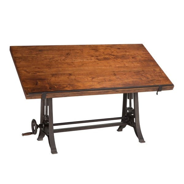 Amazing Shop Artezia 62 Inch Reclaimed Teak Wood Drafting Desk With Alphanode Cool Chair Designs And Ideas Alphanodeonline
