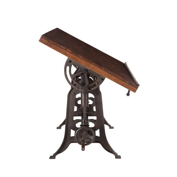 Surprising Shop Artezia 62 Inch Reclaimed Teak Wood Drafting Desk With Alphanode Cool Chair Designs And Ideas Alphanodeonline