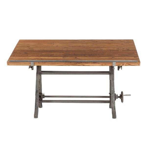 Shop Artezia 62 Inch Reclaimed Teak Wood Drafting Desk