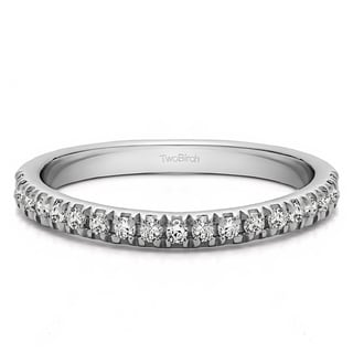 Platinum Twenty Stone Domed French Cut Pave Set Wedding Ring mounted with Diamonds (G/H, I2)(0.2 Cts. twt)