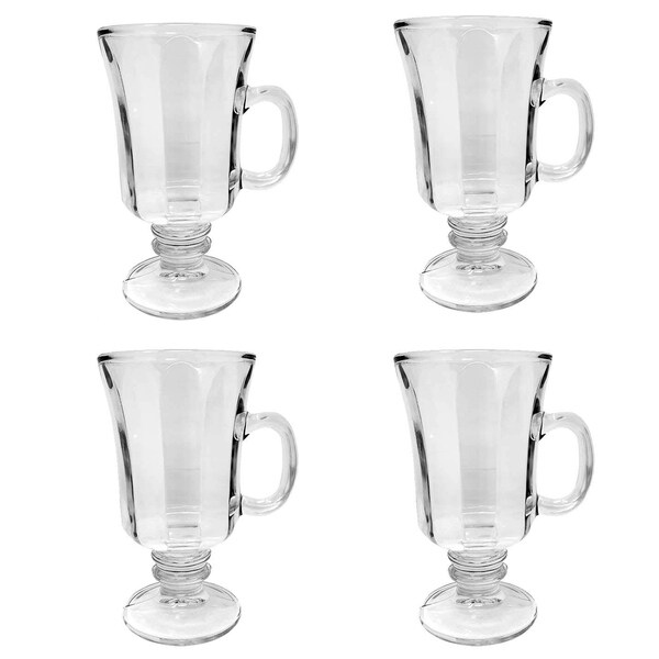 Shop Set Of 4 Thick Wall Glass Footed Irish Coffee Glass
