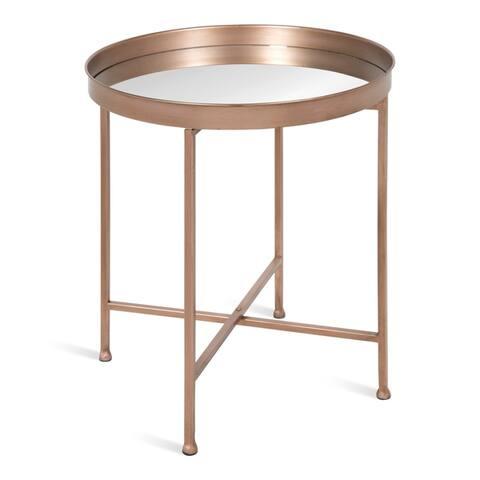 Kate and Laurel Celia Round Metal Side Table - 18.25x18.25x22