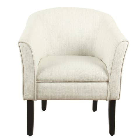 Porch & Den Kingswell Natural Textured Barrel Accent Chair