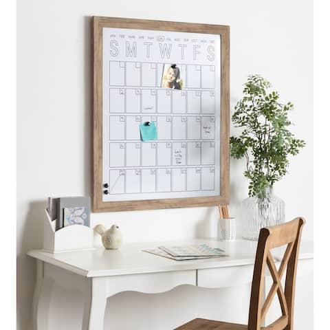 DesignOvation Beatrice Framed Magnetic Dry Erase Monthly Calendar - 27x33
