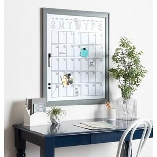 DesignOvation Bosc Framed Magnetic Dry Erase Monthly Vertical Calendar