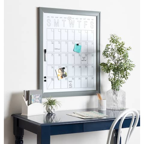 DesignOvation Bosc Framed Magnetic Dry Erase Monthly Vertical Calendar