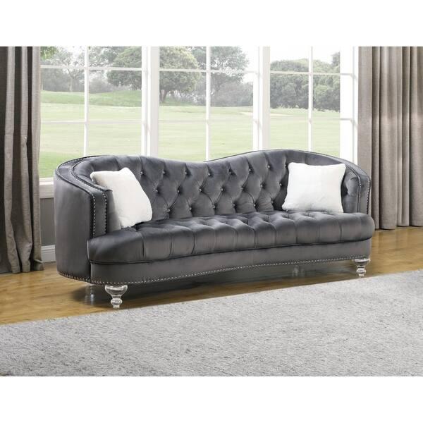 Velvet Tufted Kidney Sofa