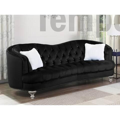 Best Quality Furniture Velvet Tufted Kidney Sofa