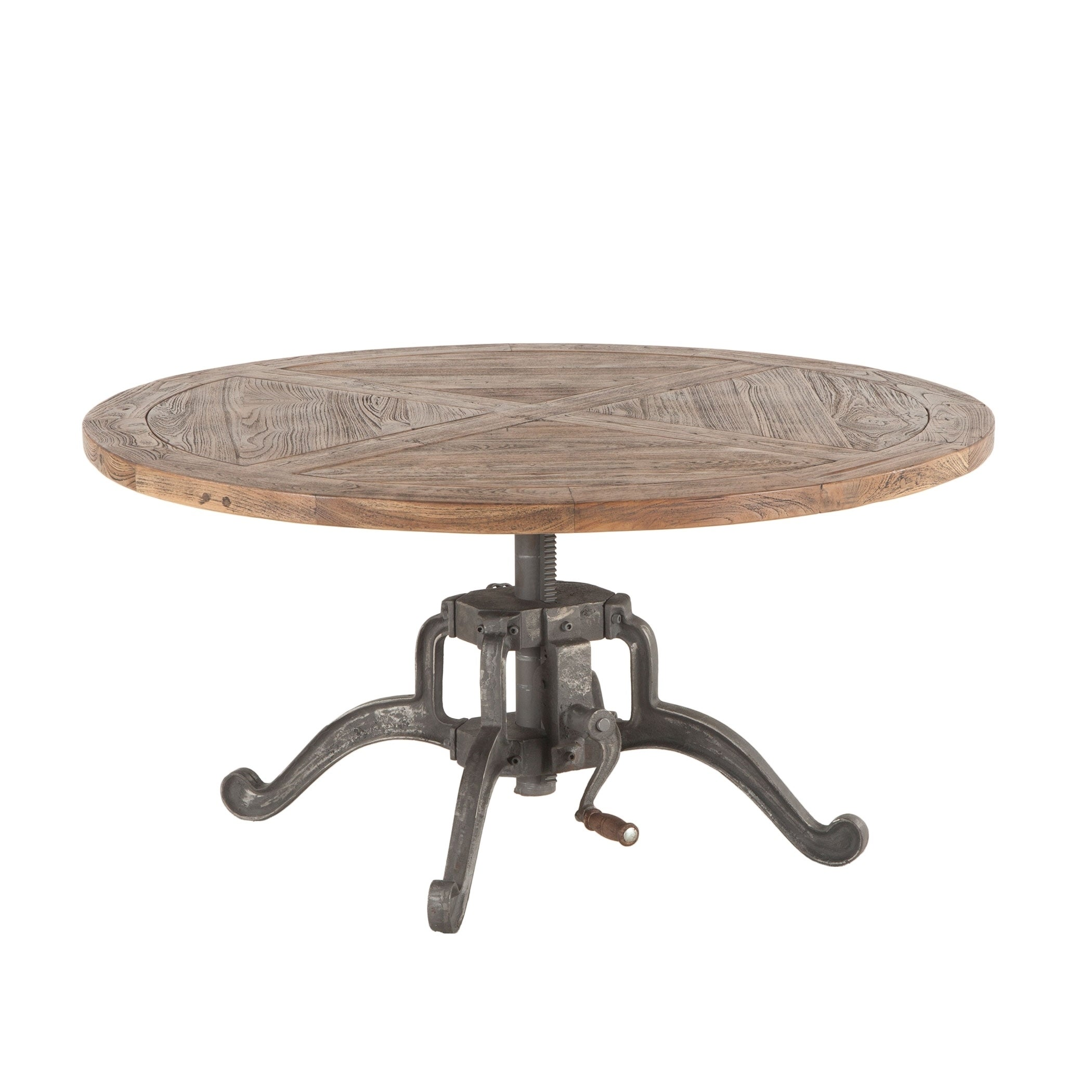 Artezia 42 Inch Round Coffee Table With Adjule Crank