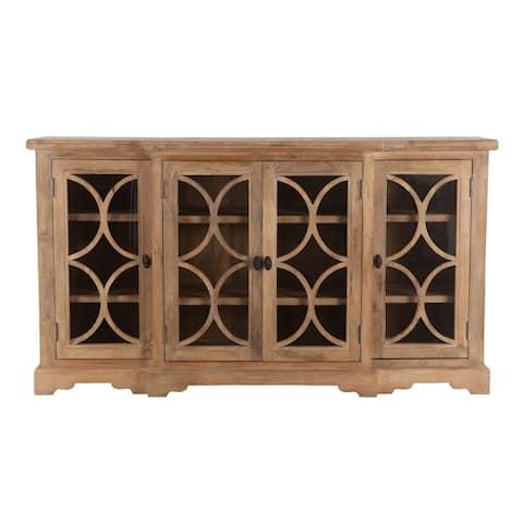 Pengrove Mango Wood Glass Cabinet