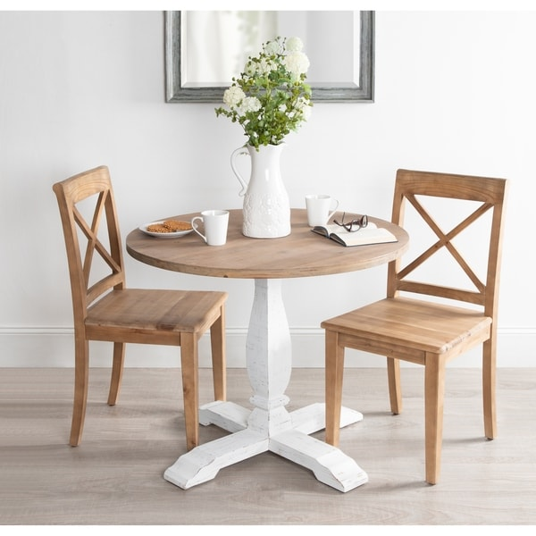Stupendous Shop Kate And Laurel Bellmead Distressed Round Dining Table Download Free Architecture Designs Scobabritishbridgeorg