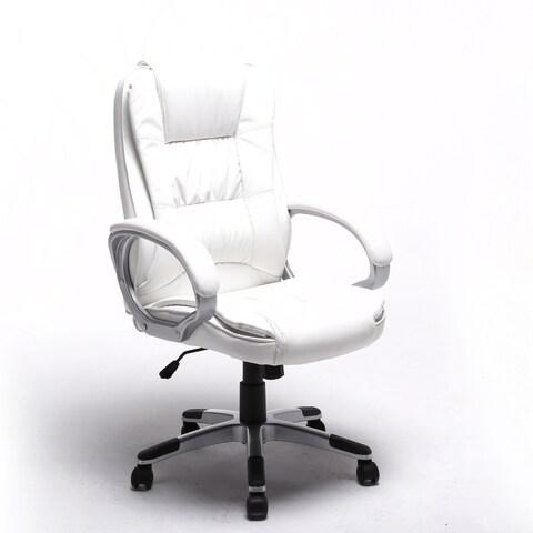 ALEKO Pneumatic Adjustable Ergonomic Executive Office Chair White