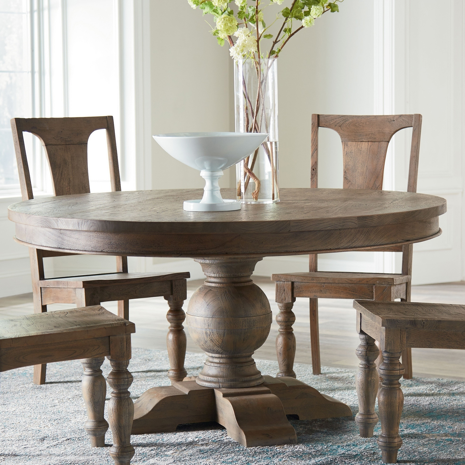 Copper Grove Abenberg Weathered Mango Round Dining Table