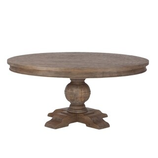 Copper Grove Asperg Brown Weathered Teak 72-inch Round Dining Table