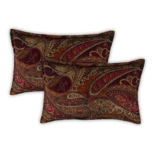 Sherry Kline Springfield Paisley Rust Boudoir Pillows (Set of 2)