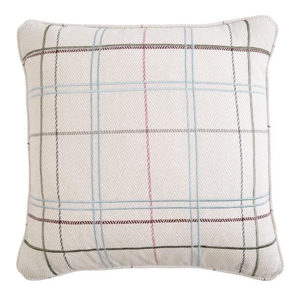 Izabelle Herringbone Plaid Throw Pillow
