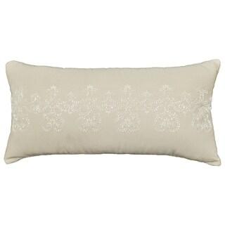 Placio Embroidered Throw Pillow