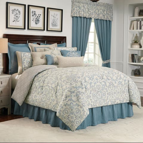 Placio Scroll Medallion Print Queen Comforter Set - Multi