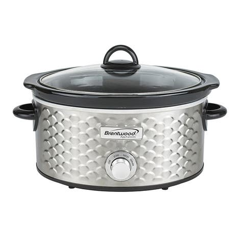 Brentwood Scallop Pattern 4.5 Quart Slow Cooker