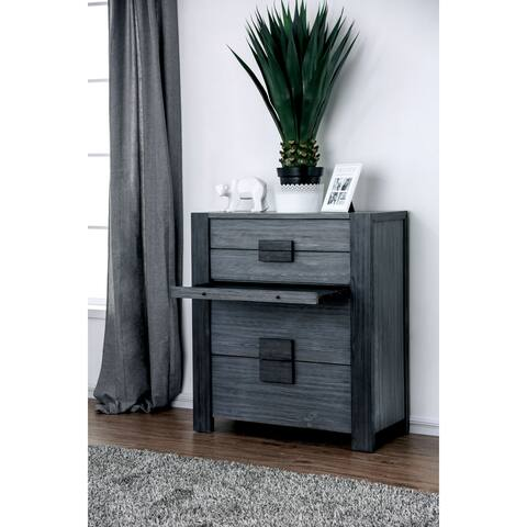 Mariah Contemporary Grey 4-drawer Chest by FOA
