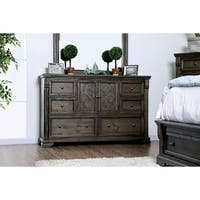 Calista Transitional Walnut 6-drawer Dresser by FOA