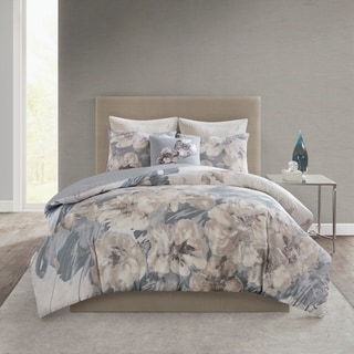 Link to N Natori Casa Nouveau Grey 3 Piece Printed Cotton Comforter Set Similar Items in Comforter Sets