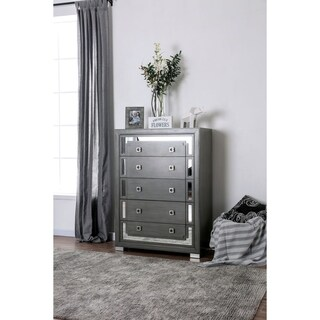 Silver Orchid Talmadge Contemporary Grey 5-drawer Chest