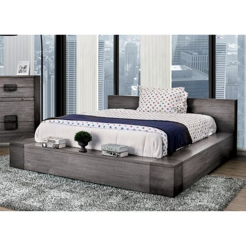 Furniture of America Fist Contemporary Grey Wood Platform Bed