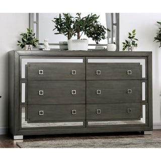 Silver Orchid Dempster Contemporary Grey 6-drawer Dresser