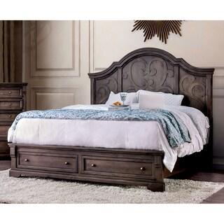 Gracewood Hollow Sahinovic Walnut Storage Bed