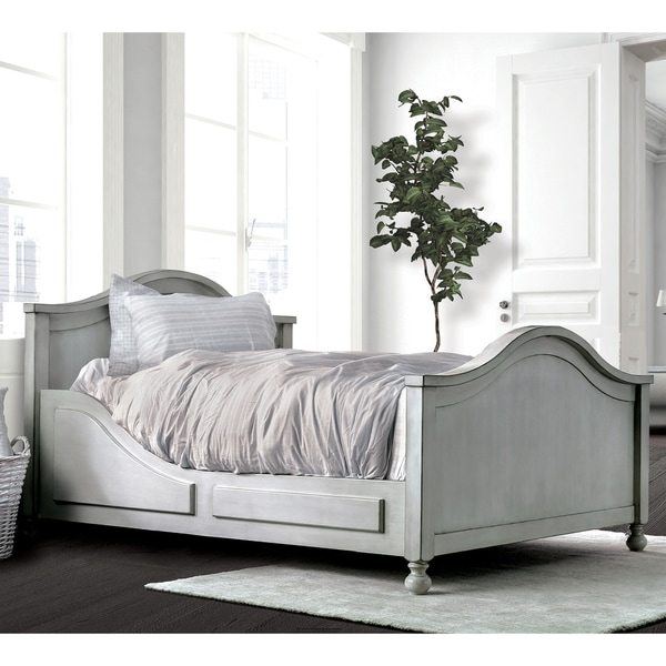Furniture Websites With Free Shipping: Shop Trevor Contemporary Antique White Camelback Bed By