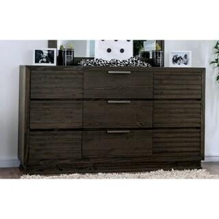 Furniture of America Tood Rustic Walnut Wood 9-drawer Dresser
