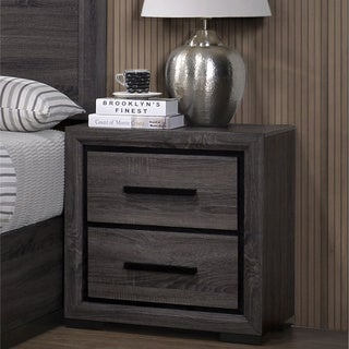 Strick & Bolton Rothwell Grey 2-drawer Nightstand